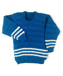 GoCuddle By Jasleen Sweater For Boys - Blue & White