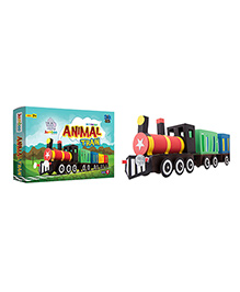 Jumboo 3D DIY Art And Craft Set Animal Train - Multi Color