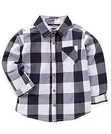 Fox Baby Full Sleeves Check Pattern Shirt - Dark Grey