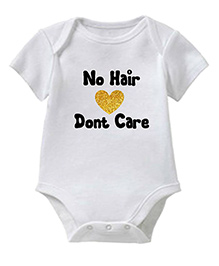 Chota Packet Short Sleeves Onesie No Hair Print - White