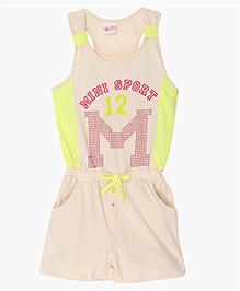 FS Mini Klub Sleeveless Sport Print Jumpsuit - Cream