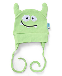 OHMS Animal Face Cap With Ear Closers - Green