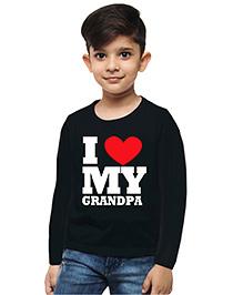M'andy I Love Grandpa Boys T-Shirt - Black