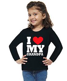 M'andy I Love Grandpa Girls T-Shirt - Black