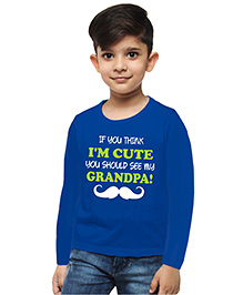 M'andy Cute Grandpa Boys T-Shirt - Blue