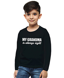 M'andy Grand Ma Is Right Boys T-Shirt - Black
