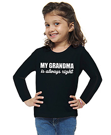M'andy Grand Ma Is Right Girls T-Shirt - Black