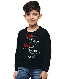 M'andy Dadi Amma Maan Jao Boys T-Shirt - Black