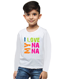 M'andy I Love My Nana Boys T-Shirt - White