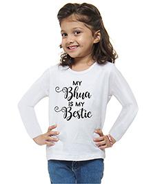 M'andy Bhua Bestie Girls T-Shirt - White