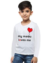 M'andy Mamu Love Boys T-Shirt - White