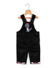 Beebay Dinosaur Applique Dungaree - Navy Blue