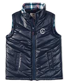 Cherry Crumble California Premiuim Lightweight Puffer Vest For Boys & Girls - Blue