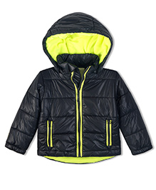 Cherry Crumble California Soft Fleece Lined Puffer Jacket For Boys & Girls - Blue
