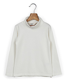 Beebay Full Sleeves Turtle Neck Skivvy - Off White