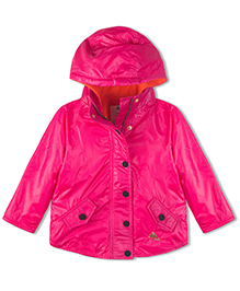 Cherry Crumble California Lightweight Fleece Line Field Jacket For Boys & Girls - Pink