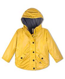 Cherry Crumble California Lightweight Fleece Line Field Jacket For Boys & Girls - Yellow