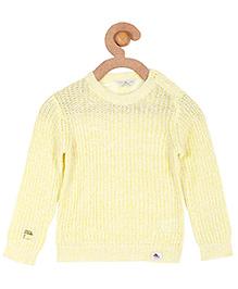 Cherry Crumble California Premium Soft Cosy Sweater For Boys & Girls - Yellow