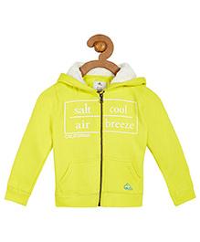 Cherry Crumble California Soft Fleece Hoodie With Sherpa For Boys & Girls - Yellow