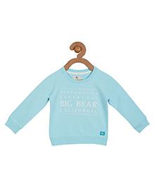 Cherry Crumble California Premium Soft Fleece Sweatshirt For Boys & Girls - Blue