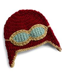 Dollops Of Sunshine Aviator Hat - Maroon
