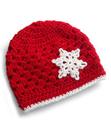 Dollops Of Sunshine Snowflake Hat - Red