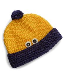 Dollops Of Sunshine Peek-A-Boo Hat - Yellow & Purple