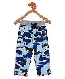 Cherry Crumble California 100% Cotton Camouflage Track Pant For Boys & Girls - Blue