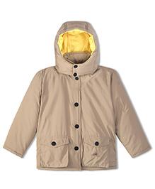 Cherry Crumble California Lightweight Puffer Jacket For Boys & Girls - Beige