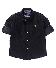 Jash Kids Full Sleeves Shirt - Black