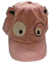 Princess Cart Embroidery Eyes Baseball Cap - Pink