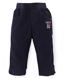 Jash Kids Full Length Pull On Pants Fighter Div Embroidery - Navy