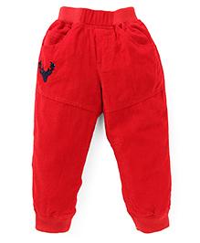 Jash Kids Full Length Elasticated Corduroy Pant - Red