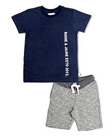 Raine & Jaine Boys Set - Navy Blue & Grey