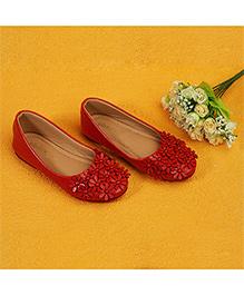 Pikaboo Essentials Flowery Feet Ballerinas Shoes - Red