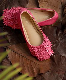 Pikaboo Essentials Flowery Feet Ballerinas Shoes - Fuchsia