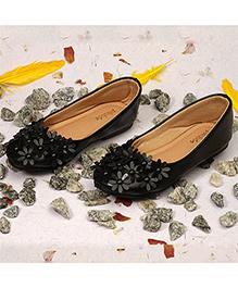 Pikaboo Essentials Flowery Feet Ballerinas Shoes - Black