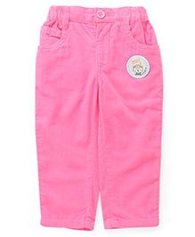 Babyhug Full Length Coudroy Pant - Pink