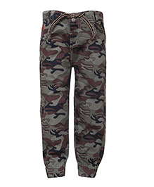 Tales & Stories Full Length Jogger Pants With Drawstring - Green