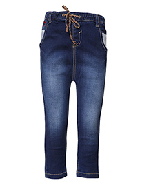 Tales & Stories Denim Jeans With Drawstring - Dark Blue