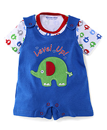 Wonderchild 2 piece Half Romper - Blue & Multicolor