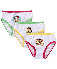 Hello Kitty Panties Pack Of 3 - Green Yellow Pink