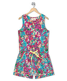 Budding Bees Printed Jumpsuit - Multicolour