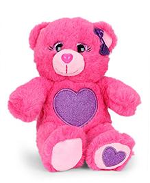 Keel Glitter Gems Bear Soft Toy With Heart Print - 16 Cm