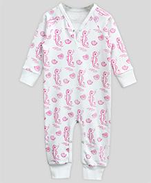 A.T.U.N Playsuit Seahorse - White & Pink