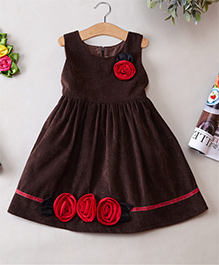 Cherubbaby Coffee Corduroy Dress - Brown