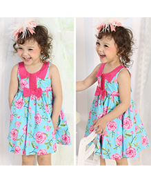 Cherubbaby Floral Dress - Blue & Pink