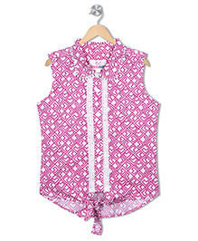 Young Birds Tie Up Shirt - Pink