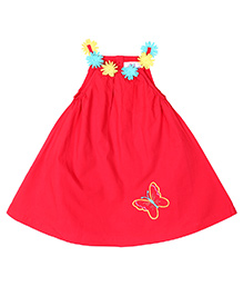 Young Birds Floral Dress - Red