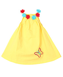 Young Birds Floral Dress - Yellow